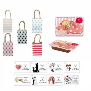 dulce membrillo 50gr detalles bebé con bolsas originales y tarjeta