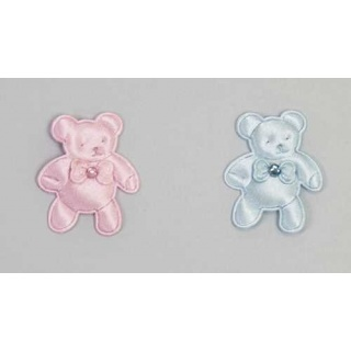 Pin oso brillo azul y rosa
