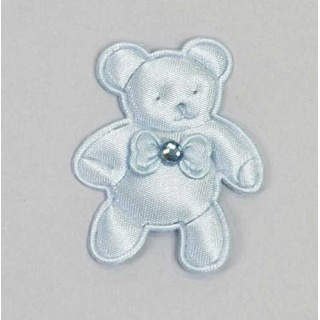 Pin oso brillo azul