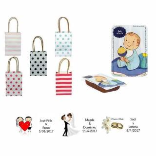 dulce membrillo 50gr bebe niño con bolsas originales y tarjeta