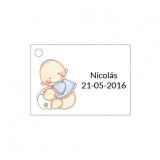 Tarjeta para detalle de bebé para niño