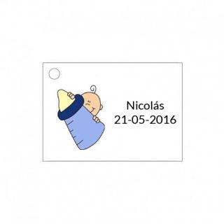 Tarjeta para detalle de bebé para niño con biberón