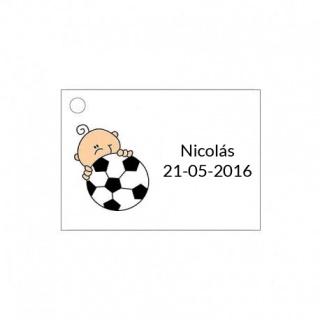 Tarjeta para detalle de bebé para niño con pelota