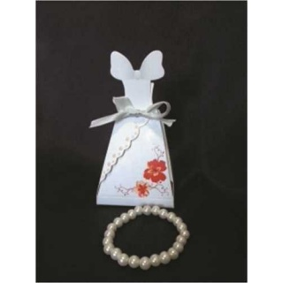 Caja Novia + Pulseras perlas (precio unidad)