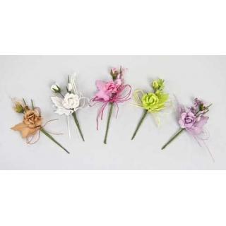 Flor y hoja mismo color surtida