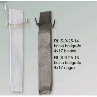 Bolsa para bolígrafos (blanco o negro) (precio unidad)
