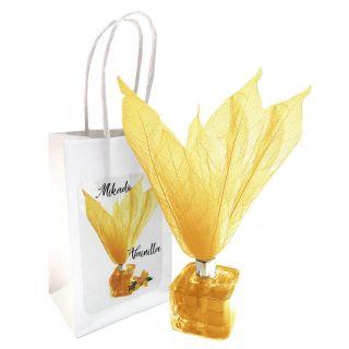 Ambientador tipo Mikado olor Vainilla con flor, incluye bolsa