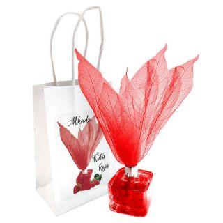 Ambientador tipo Mikado olor Frutos Rojos con flor, incluye bolsa