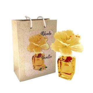 Ambientador Mikado en frasca, olor a vainilla, incluye bolsa