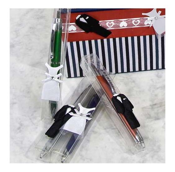 Bolígrafos Pin Novios en caja acetato (precio unidad)