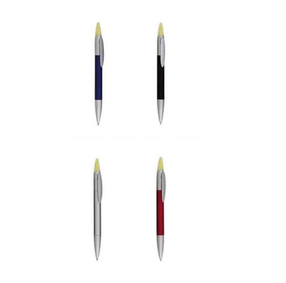 Bolígrafos con subrayador amarillo fino (precio unidad)