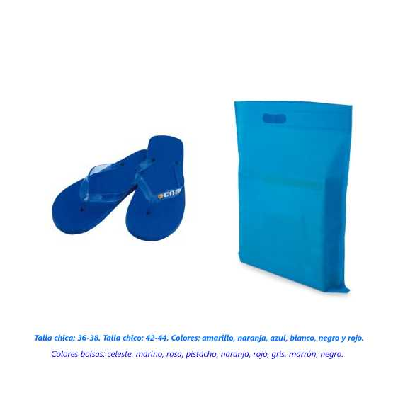Chanclas + bolsa en colores surtidos