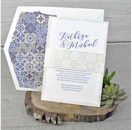 Invitación de boda original y elegante a buen precio