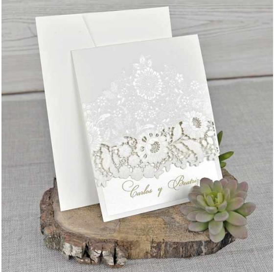 Invitación de boda diseño original