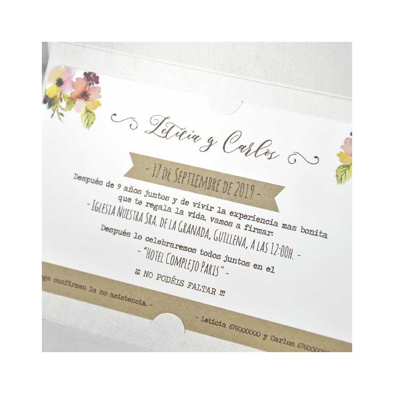 Invitaci n de boda original sobre cerrado con lazo - Invitacion de boda original ...
