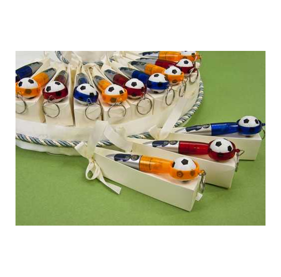 Bolígrafos llavero balón con caramelos comunión (precio unidad)
