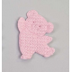Pin oso bailarin rosa