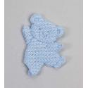Pin oso bailarin azul