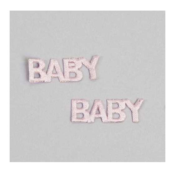 Pin letra baby rosa peq.