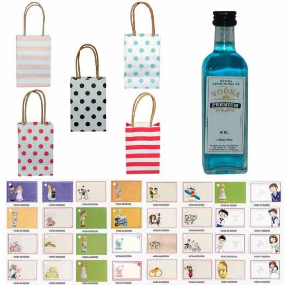 Vodka Premium en bolsas surtidas y tarjeta