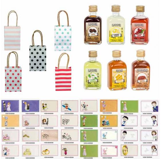 Pack Licor en bolsas regalos de boda