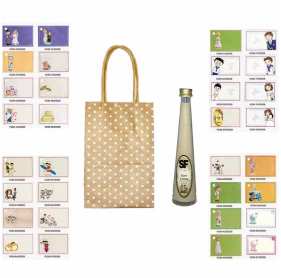 Pack licor de crema en bolsa para regalos de boda