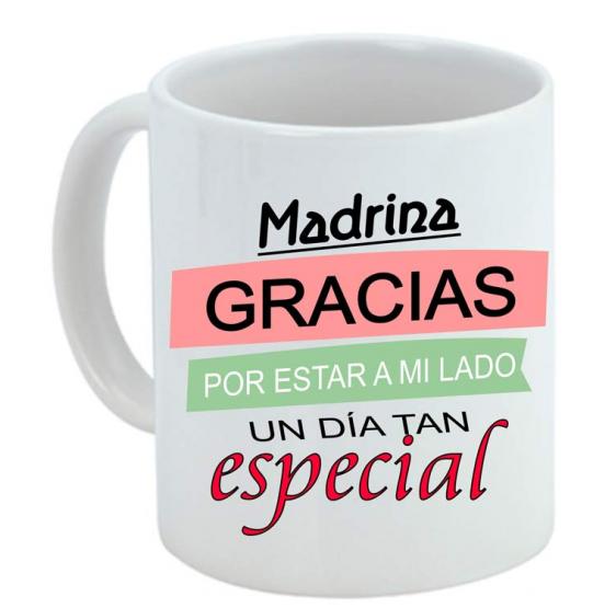 Taza personalizadas con frase de madrina
