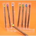 Bolígrafos mariquitas surtidas en caja acetato (precio unidad)