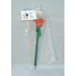 Boli con forma de Rosa + bolsa + tarjeta
