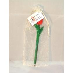 Boli con forma de tulipán + bolsa + tarjeta