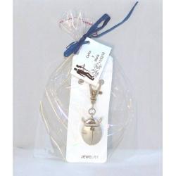 Reloj llavero mariquita + bolsa + tarjeta