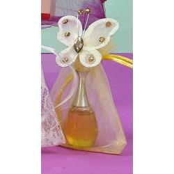 Perfume y broche mariposa