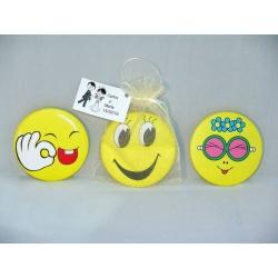 Espejo emoticonos + bolsa + tarjeta