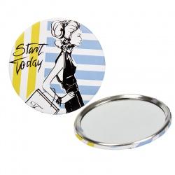 Espejo chapa rayas azules