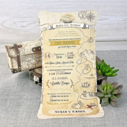 Invitacion de boda en caja muy original