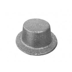 Sombrero purpurina plata