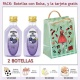 "2 Botellitas de Ginebra de Mora con bolsa ""fashion con mujer"" y tarjeta"