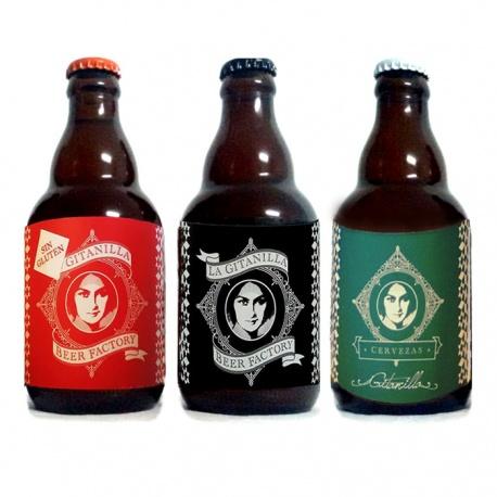 Surtido de cervezas (La Siega sin glúten, Indian Pale Ale y Aire)
